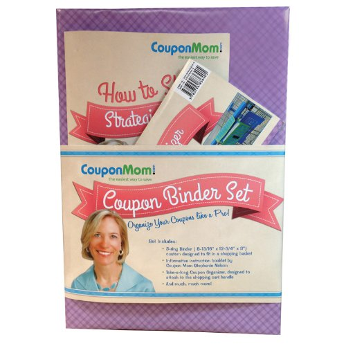 9780794840204: CouponMom.com Coupon Binder Set, purple [With 30 Clear Plastic Pocket Pages, Coupon Organizer and Booklet and Couponing Accessory Bag]