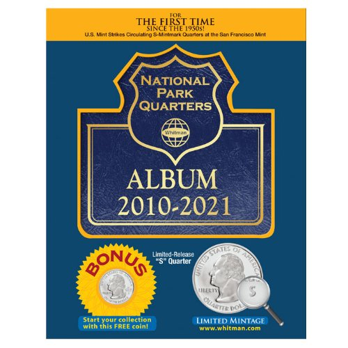 National Park Quarters Album 2010-2021 [With Quarter]: Whitman