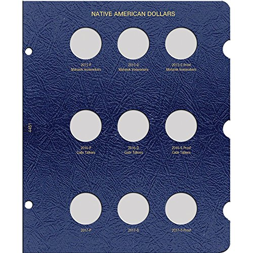 Native American Dollar Page, Dated 2015-2017: Whitman Publishing Company