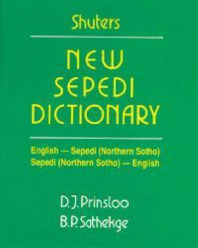 9780796009173: Shuters new Sepedi dictionary