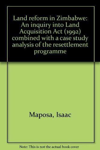 land tenure reform in zimbabwe essay