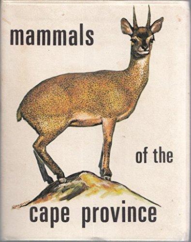Mammals of the Cape Province: Unknown