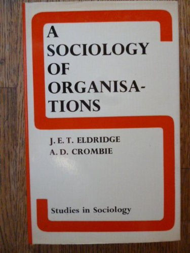 9780800201562: A sociology of organisations (Studies in sociology ; 8)