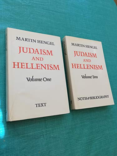 9780800602932: Judaism and Hellenism: Studies in Their Encounter in Palestine During the Early Hellenistic Period (2 Volumes)