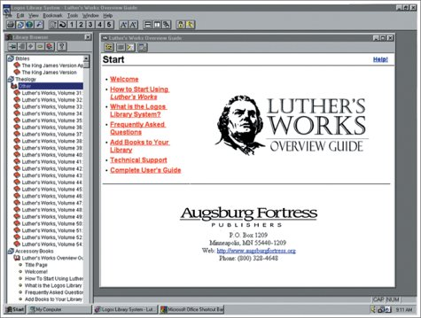 9780800603595: Luthers Works [With CDROM] (Luther & Lutheranism)