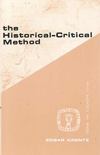 9780800604608: The Historical-Critical Method (Guides to Biblical scholarship)