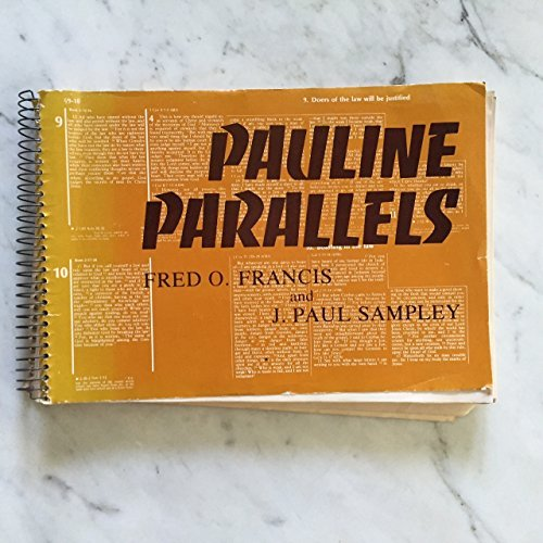 9780800612061: Pauline parallels (Sources for Biblical study)