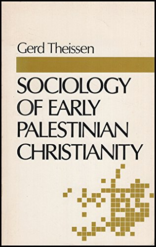 9780800613303: Sociology of Early Palestinian Christianity