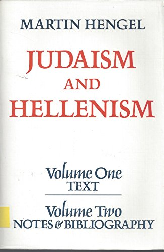 9780800614959: Judaism and Hellenism: Studies in their encounter in Palestine during the Early Hellenistic Period (Vols. 1 & 2)
