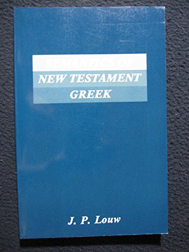 9780800615116: Semantics of New Testament Greek (Semeia Studies)
