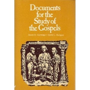 9780800616403: Documents for the study of the gospels