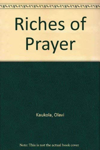 9780800618612: The Riches of Prayer (English and Finnish Edition)