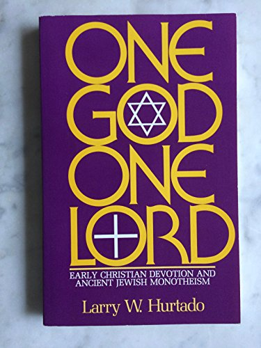 9780800620769: One God One Lord: Early Christian Devotion and Ancient Jewish Monotheism