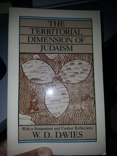 9780800625535: The Territorial Dimension of Judaism