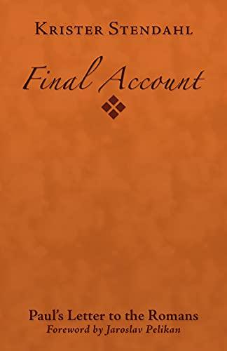 Final Account: Paul's Letter to the Romans: Krister Stendahl
