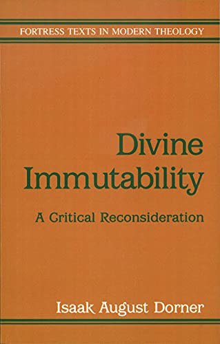 9780800632137: Divine Immutability (Fortress texts in modern theology)
