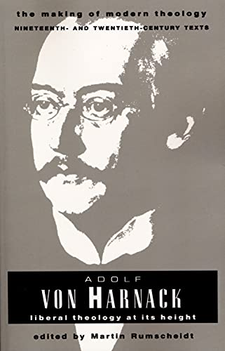 9780800634063: Adolf Von Harnack: Liberal Theology at Its Height