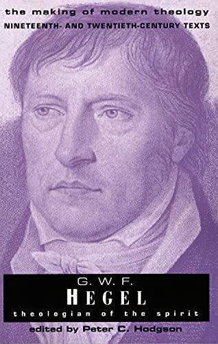 9780800634087: G.W.F. Hegel: Theologian of the Spirit (Making of Modern Theology)