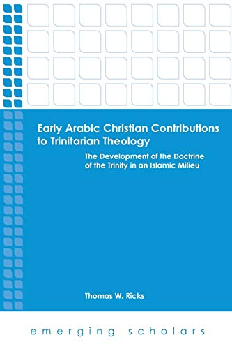 9780800699987: Early Arabic Christian Contributions to Trinitarian Theology (Emerging Scholars)