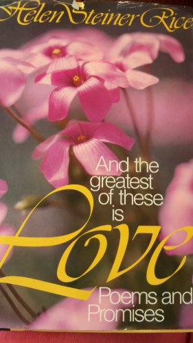 9780800710729: And the Greatest of these is Love: Poems and Promises