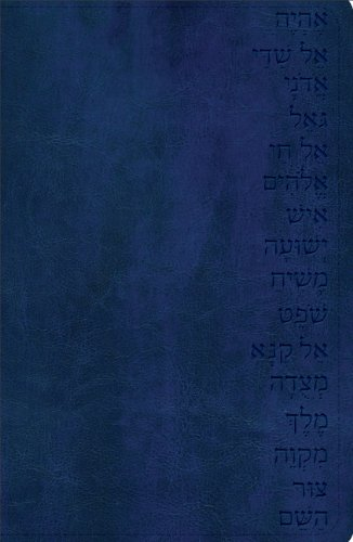 GW Names of God Bible Midnight Blue, Hebrew Name Des