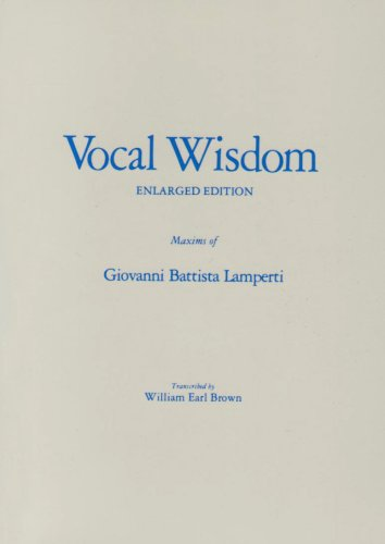 9780800880231: Vocal Wisdom: Maxims of Giovanni Battista Lamperti