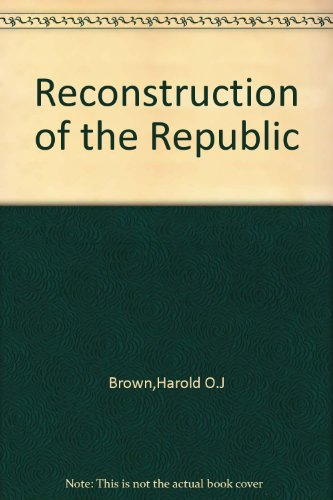 9780801009396: Reconstruction of the Republic