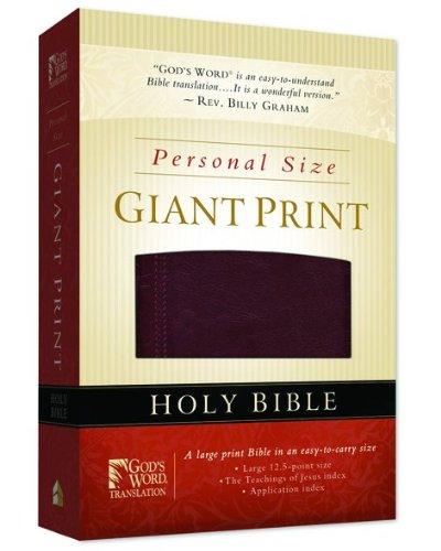 9780801013416: GW Personal Size Giant Print Bible Burgundy Duravella