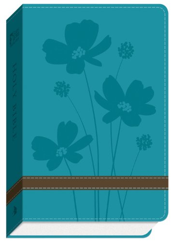 9780801014017: GW Compact Bible Turquoise/Brown, Flower Design Duravella