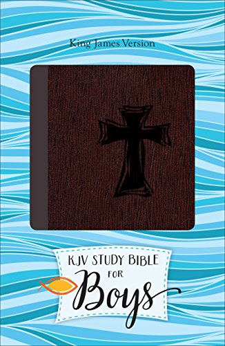 9780801018503: KJV Study Bible for Boys Autumn Bark, Cross Design Duravella