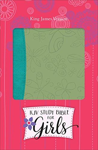 9780801018534: KJV Study Bible for Girls Willow/Turquoise, Butterfly Design Duravella