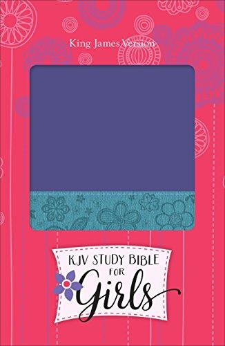 9780801018541: KJV Study Bible for Girls Grape/Surf Blue, Floral Design Duravella