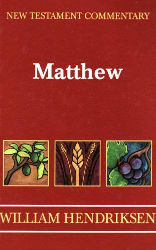 9780801040665: Gospel of Matthew (New Testament Commentary)