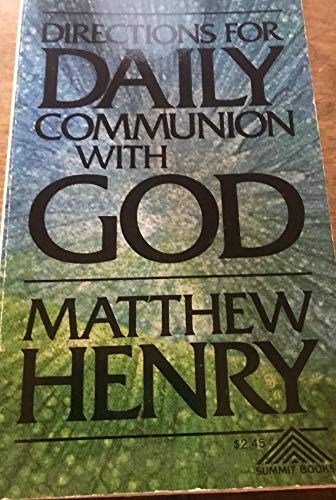 9780801041938: Directions for Daily Communion with God
