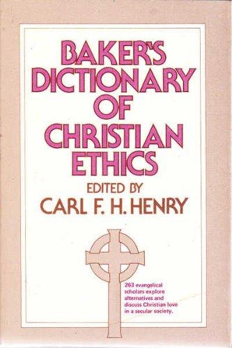9780801041990: Baker's Dictionary of Christian Ethics