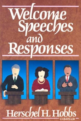 Welcome Speeches and Responses (0801043077) by Baker Publishing Group
