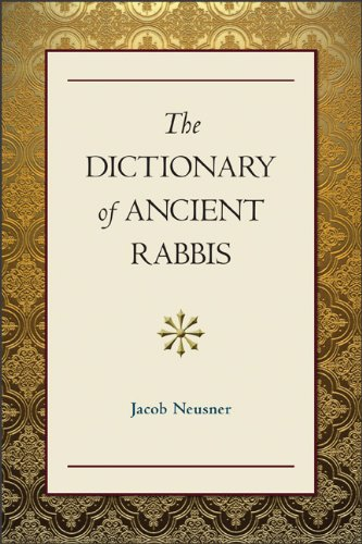9780801047312: Dictionary of Ancient Rabbis: Selections from The Jewish Encyclopaedia