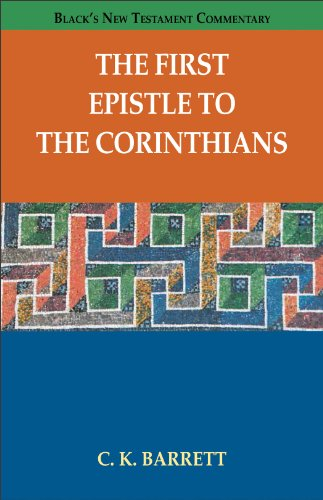 9780801049460: The First Epistle to the Corinthians (Black's New Testament Commentary)