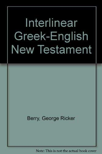 Interlinear Greek-English New Testament