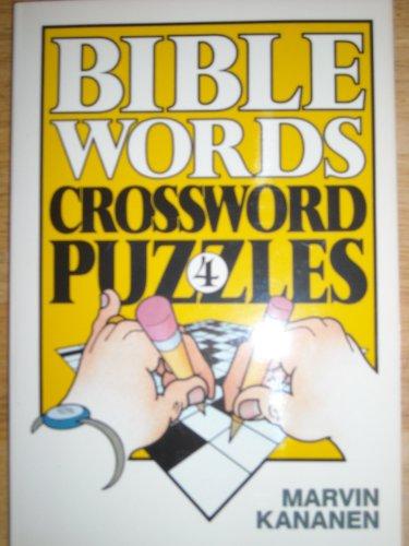 Bible Words Crossword Puzzles 4: Kananen, Marvin