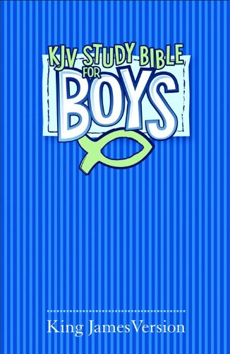 KJV Study Bible for Boys Blue Hardcover
