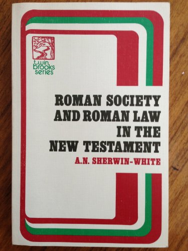 9780801081484: Roman Law and Roman Society in the New Testament