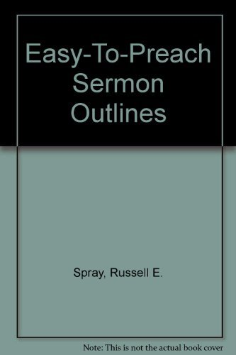 9780801083136: Easy-To-Preach Sermon Outlines (Pulpit Library