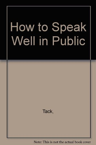 9780801087936: How to Speak Well in Public