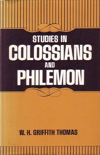 9780801088100: Studies in Colossians and Philemon