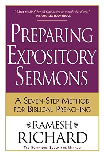9780801091193: Preparing Expository Sermons: A SevenStep Method for Biblical Preaching