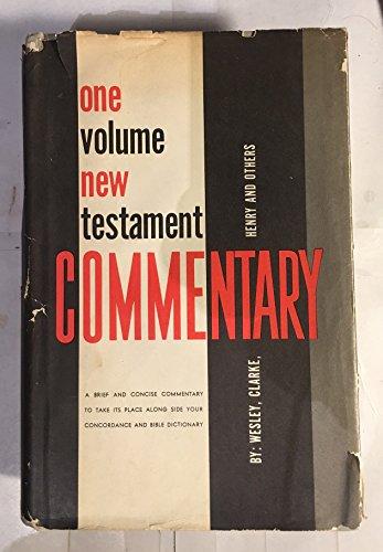 One Volume New Testament Commentary: John Wesley, Adam