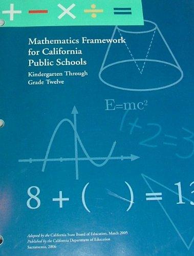 9780801116117: Mathematics Framework for California Public Schools : Kindergarten Through Grade Twelve