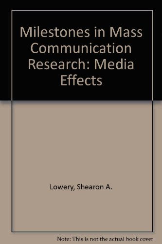 9780801300387: Milestones in Mass Communication Research: Media Effects