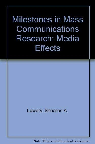 9780801300394: Milestones in Mass Communications Research: Media Effects